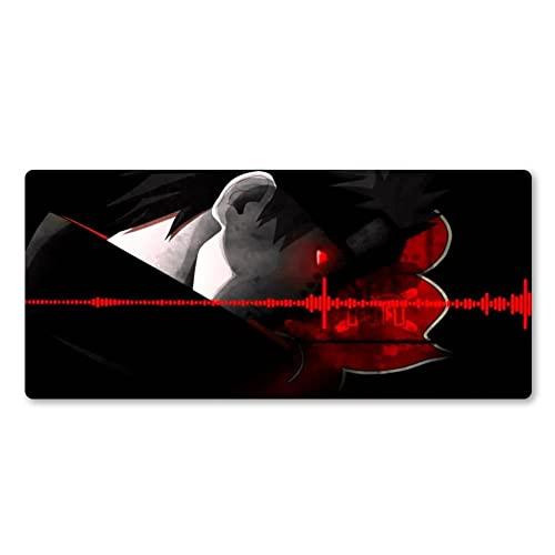 Alfombrilla de Ratón,Fibra Extrafina Alfombrilla para Computadora con Base de Goma Antideslizante,Especial para Gamer,para Ratón con Cable o Inalámbrico PC/Mac,1000x500x3mm Negro Rojo