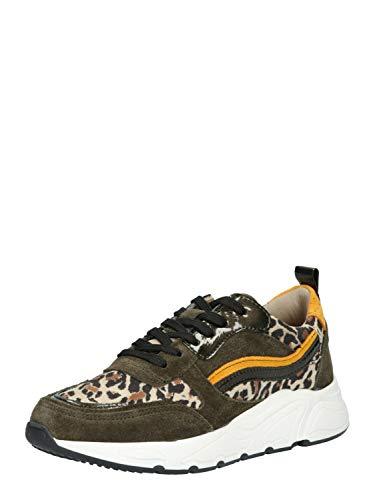 PS Poelman Damen Sneaker Low 5614 Oliv 40