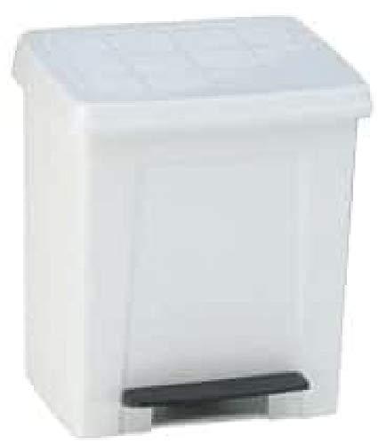 24130.050   Cubo de Basura con Pedal, 23 L, Color Blanco, Polipropileno, único