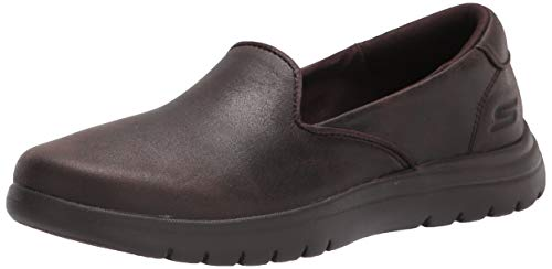Skechers Women's Loafer Flat, Chocolate, 11