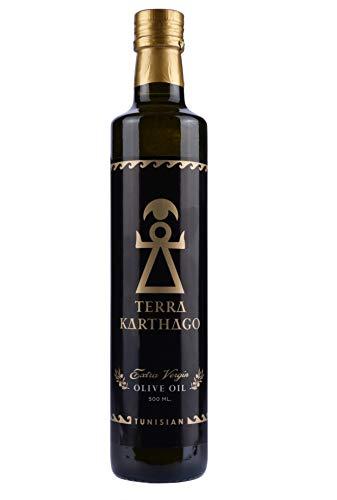 Terra Karthago Olivenöl | Olivenöl extra Vergine | Olivenöl kaltgepresst | Familienproduktion | Bestes olivenöl | 1 fl. x500ml | Tunesisch | Natives olivenöl extra