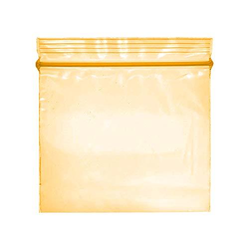 Pequeñas bolsas de plástico Ziplock de 200 a 2x2in, transparentes, elección de colores con cierre de cremallera (Naranja)