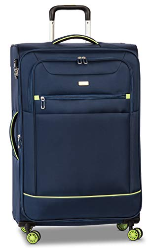 Fabrizio Trolley 3er Set Skyline Koffer-Set, 79 cm, 77 Liter, Marineblau