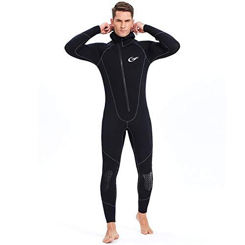 Traje de neopreno ultra elástico de 3 mm, para invierno, cálido, con cremallera frontal, para buceo, buceo, natación, surf, XXL