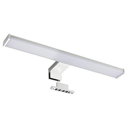 SEBSON Lámpara LED Espejo, baño IP44 40cm, pinza + armario, luz blanca neutra 4000K, 400x106x40mm, 8W, 600lm