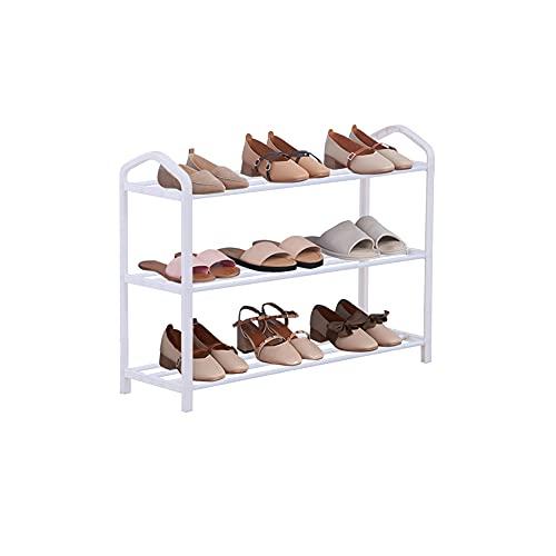 GOLDFAN 3-Tier Shoe Rack Shoe Storage Shelves Space Saving Standing Shelf Shoe Organizer for Living Room Corridors and Cloakrooms, White
