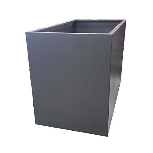 WMT - Fioriera XXL – antracite RAL 7016, in metallo – (80 x 100 x 150 cm (larghezza x altezza x lunghezza)