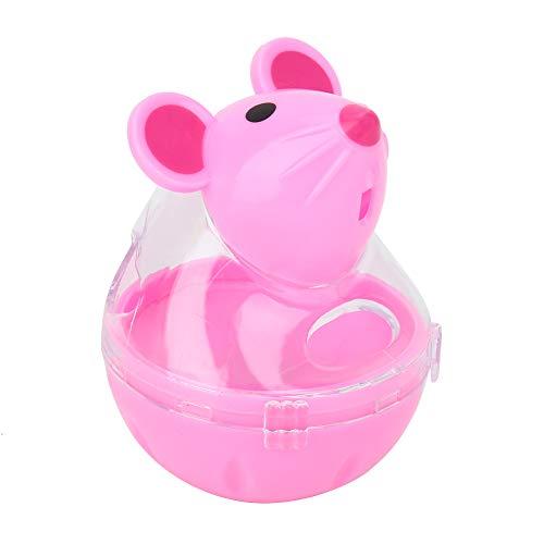 HelloCreate kat feeder huisdier kat hond lekkage feeder trage voedsel dispenser muis Tumbler ontwerp bal speelgoed (roze), roze