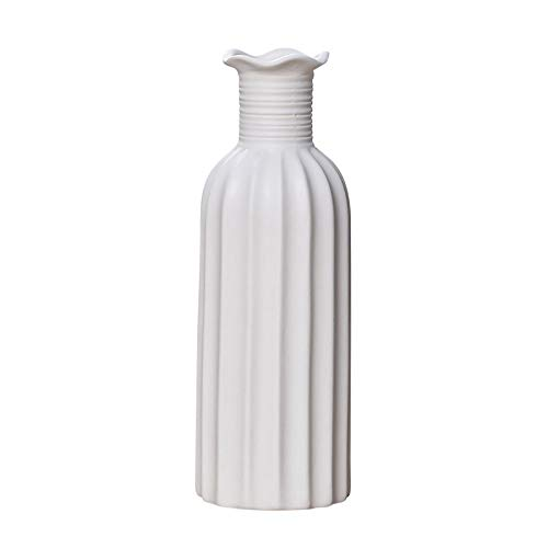 Minimalist Origami Texture Vase Simple Vertical Stripe Modern Ceramic Vase on the Table For Wedding Birthday Party Decoration