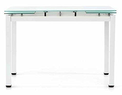 Fashion Commerce FC608 Tavolo, Metallo, Bianco, 110x70x76 cm