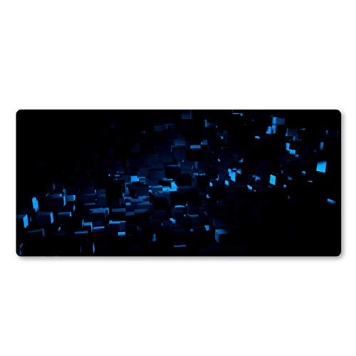 Cool Blue Abstract Art Mouse Pad Gamers Grote Game Pads Home Computer Toetsenbord Mousepad Gaming Art Mouse Pad 400 * 900 * 3 Mmwaterproof anti-slip