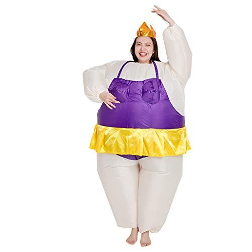 LXLTLB Aufblasbares Kostüm Fatsuit Ballerina Fasching Karneval, Unisex – Erwachsene, 150-190cm, Einheitsgröße (Kostüm-Sets),B