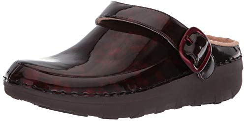 FitFlop Women's Gogh PRO Superlight Tortoiseshell Medical Professional Shoe, Chocolate Brown Turtle, 8 M US