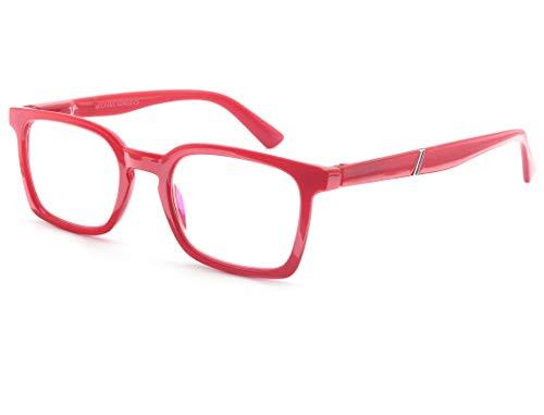 petit un compact Lunettes de sécurité lumière bleue, verres correcteurs +2,00 / lunettes de lecture filtre lumière bleue, UV…