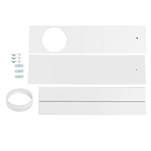 Fdit Deflector de férula con Placa de Sellado de Ventana Ajustable para Aire Acondicionado móvil Universal(3pcs Baffle)