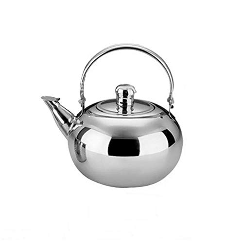 Tetera de acero inoxidable pequeña con silbato tetera, hervidor de té, apta para cocinas de gas, cocinas de inducción, calentador eléctrico