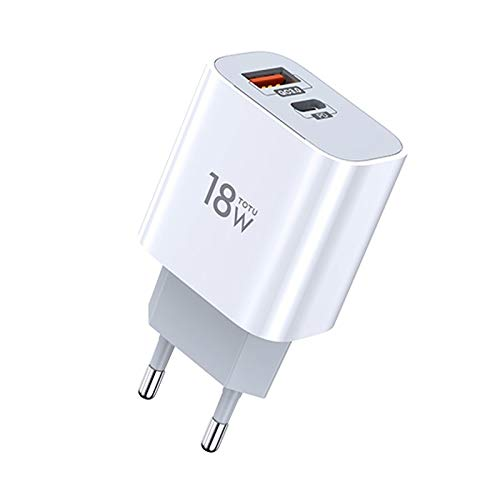 RUNNA Durable Serie Minimal Series CACQ-06 18W PD USB-C/Type-C + QC3.0 Puertos de Viaje USB, Enchufe de la UE (Color : Color1)