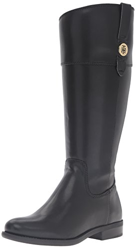 Tommy Hilfiger Women's Shano-wc Riding Boot, Black, 7.5 M US