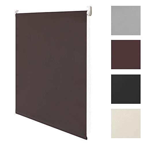 wolketon Blackout Thermal Roller Blind Window Blind 100% Blackout sin perforación/Herramientas requeridas con Accesorios para un Mejor sueño, Marrón, 70x200cm
