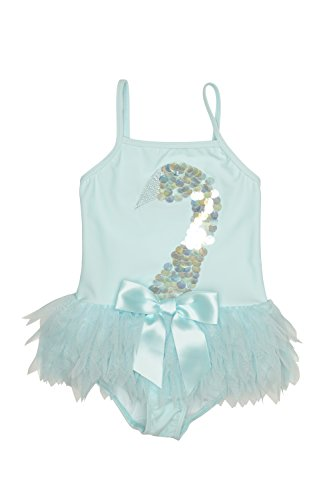 Kate Mack Girls' Little Toddler Swan Lake Act Two Skirted One-Piece, Aqua, 3T