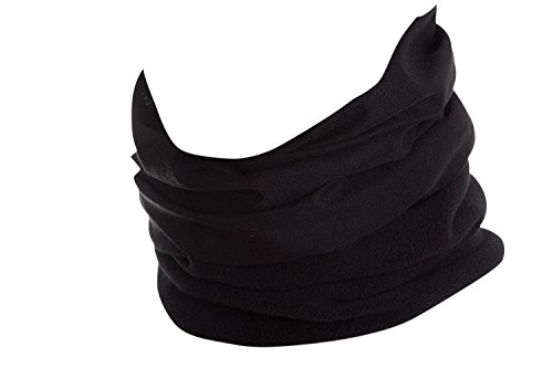 Hilltop Polar Halstuch, Multifunktionstuch, Kopftuch, Schlauchschal, Schal mit Fleece, Cooles Design in Trendfarben, für Damen und Herren, Farbe:Schwarz