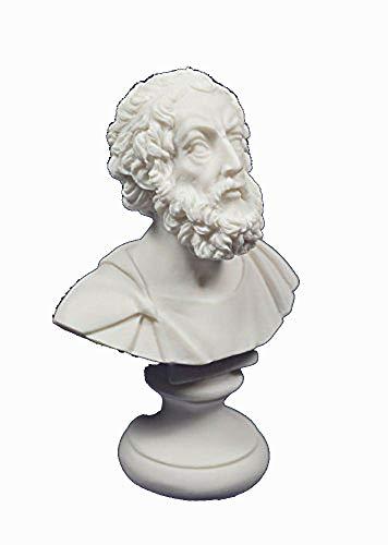 Homer-Statue, Büste eines antiken, griechischen Dichters, Skulptur