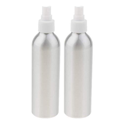 2PCS Aluminium Vide Rechargeable Brume Fine Spray Flacon Sparyer (Taille 40/50/100/120/150/250 ML) - Argent, 250ml 250ml