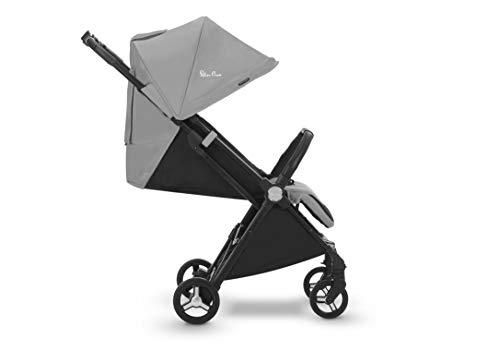 Silver Cross Jet Travel Stroller, Lightweight and Cabin Approved Pushchair – Sterling Silver