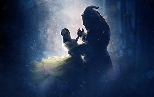 Póster de la mejor película Luke Evans Beauty And The Beast Emma Watson (30,5 x 45,7 cm), multicolor