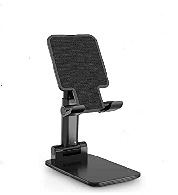 New Kitchen Gadgets 2021 Cell Phone Stand, Tablet Holder, Height Adjustable Stand Mount, Compatible with iPhone Samsung Cell Phone, Tablet, iPad, Nintendo Switch, Kindle (Black) by Accessonico