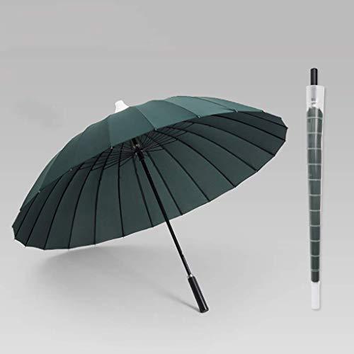 3 Regenschirm Sonnenschirm 24 Knochen Doppelschicht Widerstandsfähigkeit gegen starken Wind Gewitter Blitzschutz Business Regenschirm (Farbe: E, Größe: 115cm)