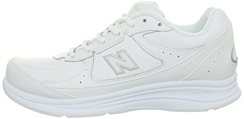 New Balance Women's 577 V1 Hook and Loop Walking Shoe, White/White, 8.5 W US