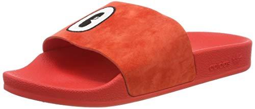 adidas Adilette W, Zapatos de Playa y Piscina Mujer, Rojo (Active Red/FTWR White/Core Black Active Red/FTWR White/Core Black), 43 EU