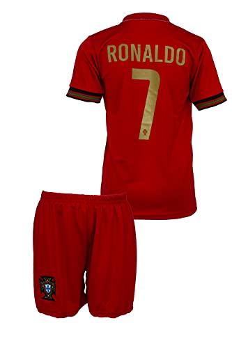 StoneMale 2021 Portugal Heim Cristiano Ronaldo #7 Kinder Trikot Europäische Nationalmannschaften (164, 10-11 Jahre)