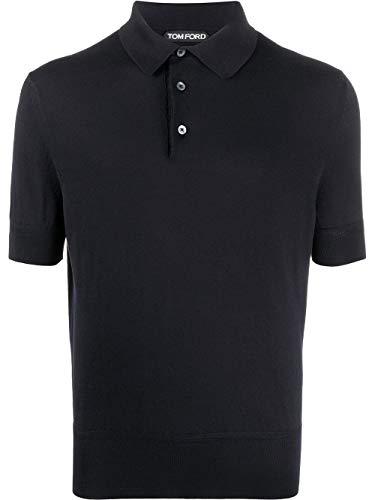 Tom Ford Luxury Fashion Herren TFKC33BUC00B09 Blau Baumwolle Poloshirt | Frühling Sommer 20