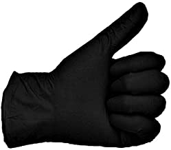 200 Vakly Black Latex Gloves - Powder Free - (Large) - 200 Count