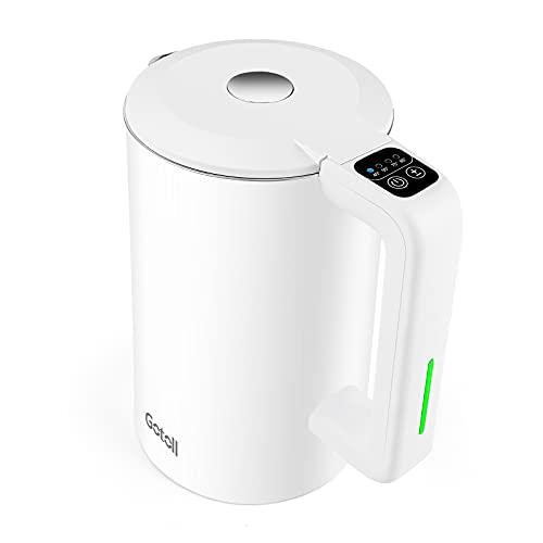 Gotoll Hervidor de Agua Eléctrico 1,7L,2200W,Control de Temperatura del Agua,304 Acero Inoxidable,Libre de BPA,Doble Sistema de Seguridad,Protección contra Hervido Seco,Base 360°
