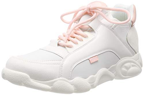 Buffalo Damen CALI Sneaker, Mehrfarbig (White/Pink 000), 38 EU