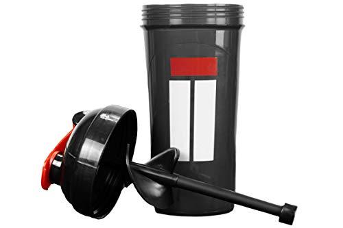 Shaker Bottle Isolator Fitness ISOSHAKER - BPA Free ISOLATOR BLACK Protein Shaker Bottle