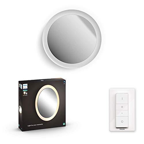 Philips Hue White Amb. Adore Spiegel mit Beleuchtung weiß 2400lm Dimmschalter