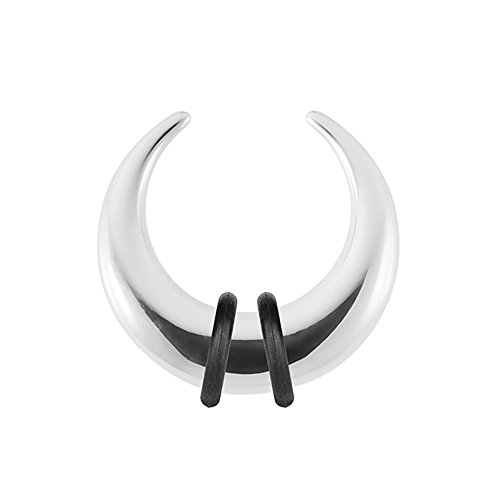 Piercingfaktor Piercing Ohrpiercing Expander Ohr Stab Dehnungssichel Dehnungssichel Edelstahl Hufeisen 2,0mm