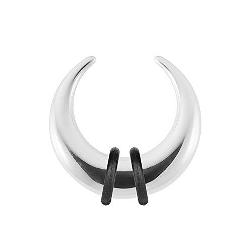 Piercingfaktor Piercing Ohrpiercing Expander Ohr Stab Dehnungssichel Dehnungssichel Edelstahl Hufeisen 2,5mm