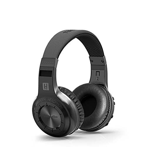 Bluetooth Inalámbrico Sobre El Auricular Del Oído Con Micrófono, Auriculares Híbridos De Cancelación De Ruido Activo, Audio De Alta Resolución, Bajos Profundos, Para Teléfono Celular, TV, PC,Negro