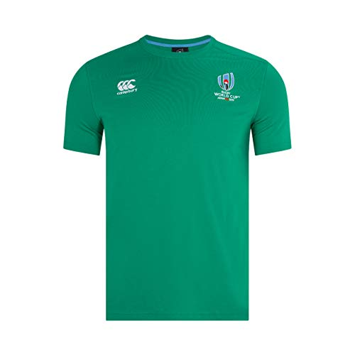 Canterbury Herren Offizielles Rugby World Cup 2019 Baumwolljersey T-Shirt, Bosphorus-Grün, XL