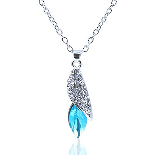 XCWXM Edición de Moda Rock Sugar Collar Desert Treasure Star Colgante Regalo de cumpleaños Lujo Azul Claro