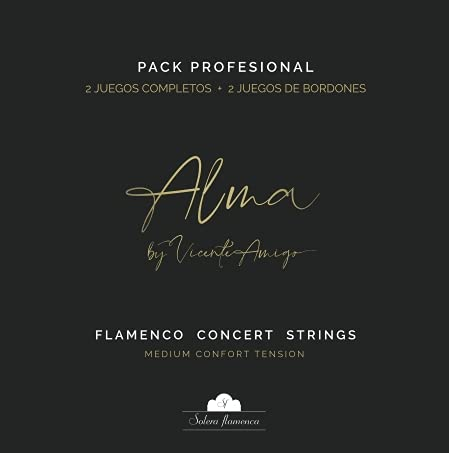 PACK PROFESIONAL  ALMA  by VICENTE AMIGO Solera Flamenca STRINGS (2 sets completos + 2 sets bordones)