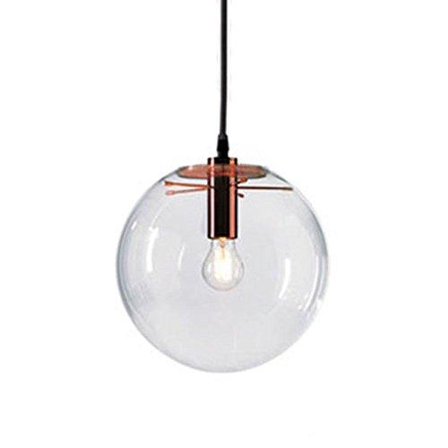 Lámpara colgante con pantalla de cristal esférica