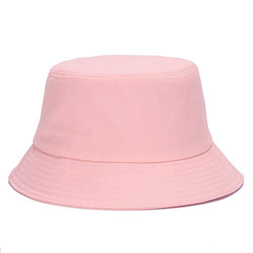 Umeepar Fischerhut Sonnenhut Sommerhut Hut for Damen Herren (Schlicht rosa)