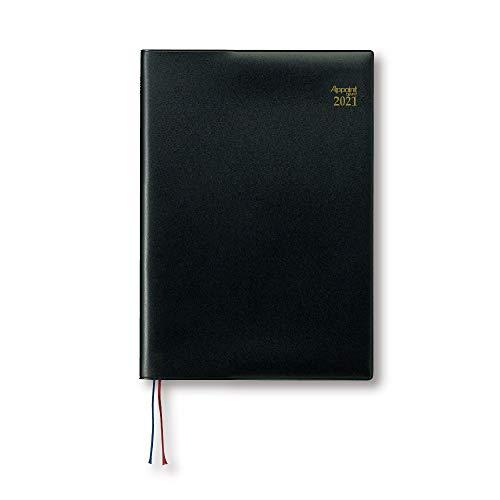 ダイゴー 手帳 2021年 アポイント ウィークリー B5サイズ ブラック E1069 2020年 9月始まり
