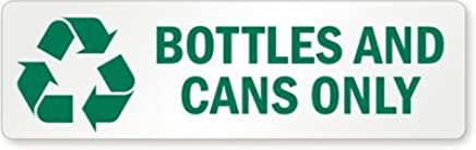 picture regarding Recycle Labels Printable named Bottles and Cans Just (with Recycle Impression), Adhesive Symptoms